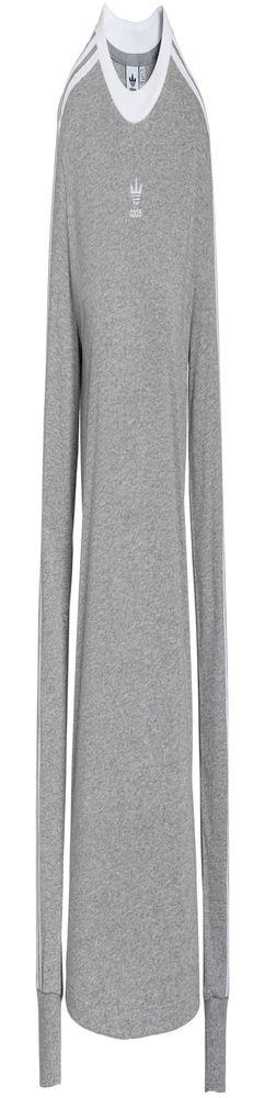 Футболка женская с длинным рукавом 3 Stripes LS, серый меланж фото