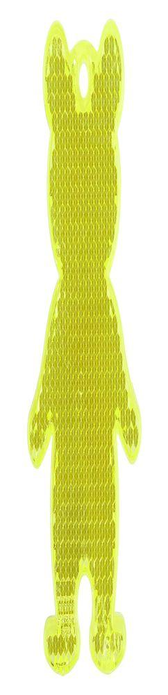 Пешеходный светоотражатель «Мишка», неон-желтый фото