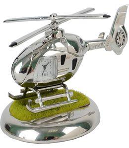 Часы «Вертолет» с посадочной площадкой. Вертолет может «взлетать» и «садиться» на площадку фото