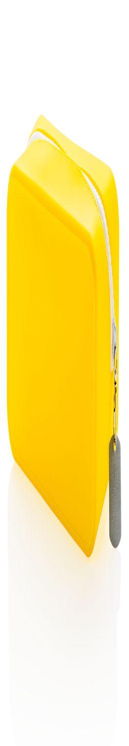 Непромокаемая силиконовая косметичка, желтая фото