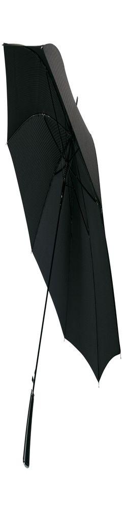 Зонт-трость с фактурной тканью Ricardo, черный фото