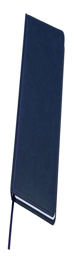 Ежедневник датированный Bliss, А5,  темно-синий, белый блок, без обреза фото