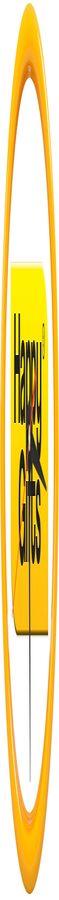 """Часы настенные """"PRINT"""" разборные ;  желтый, D24,5 см; пластик/стекло  фото"""