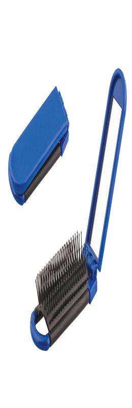 Расческа с зеркалом, синий фото