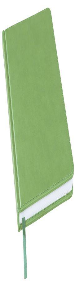 Ежедневник недатированный Bliss, А5, лаймовый, белый блок, без обреза фото