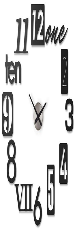 Часы настенные numbra черные фото