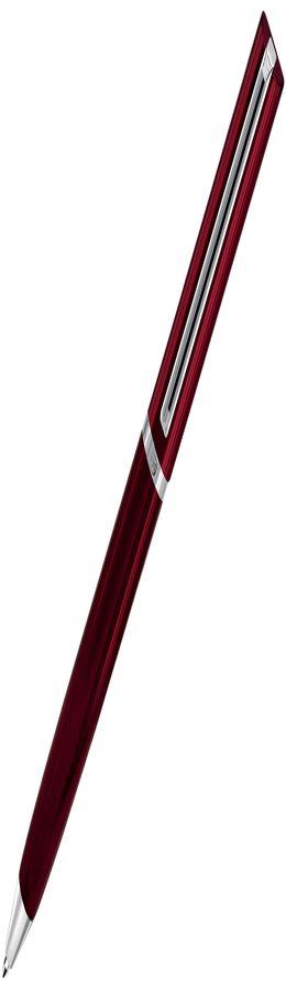 Авторучка шариковая, BULLET, красный/хром фото