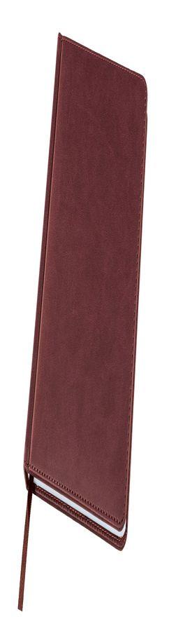 Ежедневник датированный Bliss, А5,  бордовый, белый блок, без обреза фото