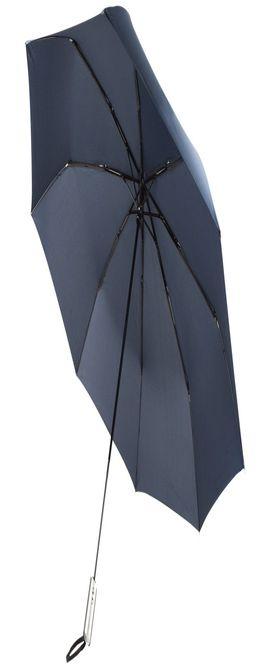 Зонт складной Unit Fiber, темно-синий фото