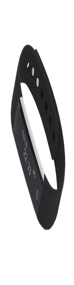 """Смарт браслет (""""умный браслет"""") Portobello Trend, Only, электронный дисплей, браслет-силикон, 240x16x10 мм, черный фото"""