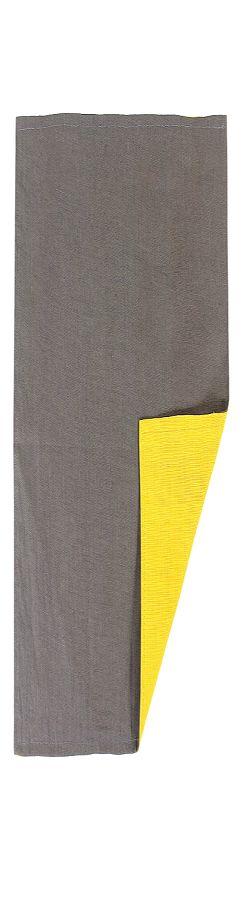 Двухсторонняя салфетка под приборы из умягченного льна с декоративной обработкой. Цвета темно-серый  фото