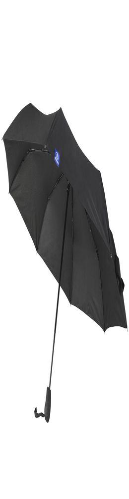 Зонт складной Wind & Rain, черный фото