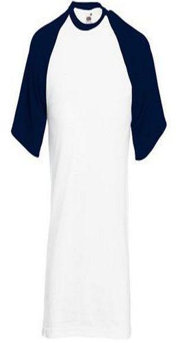 """Футболка """"Short Sleeve Baseball T"""", белый с глубоким темно-синим фото"""