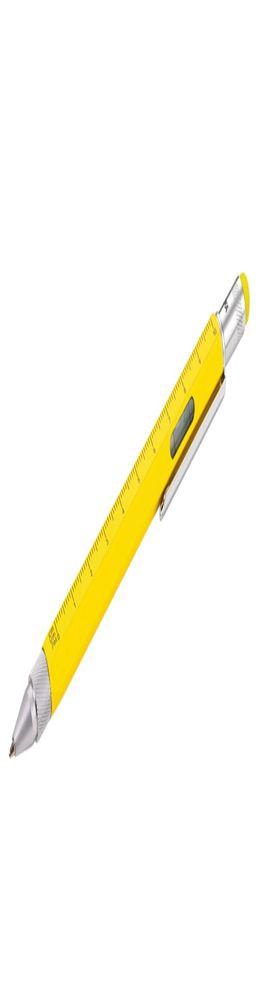 Ручка шариковая Construction, мультиинструмент, желтая фото