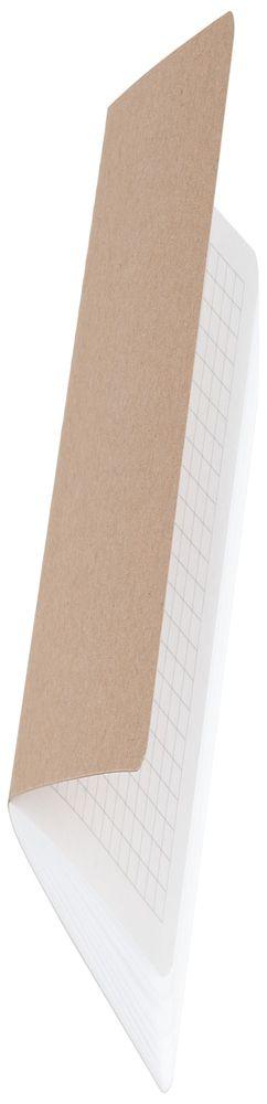 Блокнот Sandy, в клетку, крафт фото
