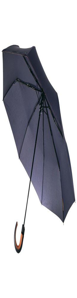 Складной зонт Palermo, темно-синий фото