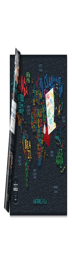 Карта travel map letters world фото