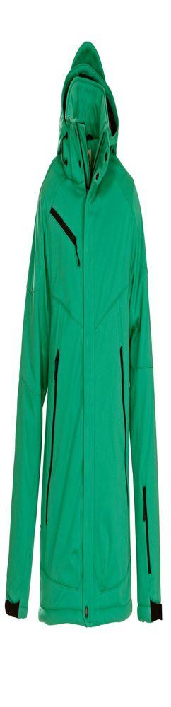 Куртка софтшелл мужская Skeleton, зеленая фото