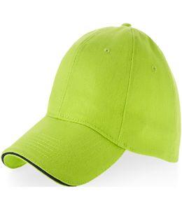 """Бейсболка """"Challenge"""" 6-ти панельная зелёное яблоко/темно-синий фото"""
