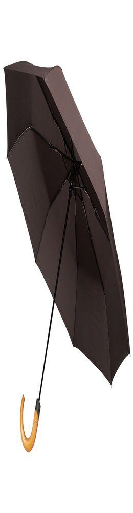 Складной зонт Unit Classic, коричневый фото