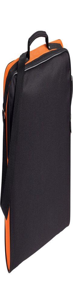 Сумка для документов Unit Metier, черная с оранжевой отделкой фото