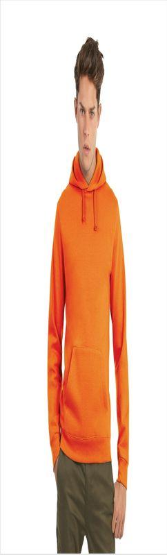 Толстовка с капюшоном ID.003, оранжевая, размер XXXL фото