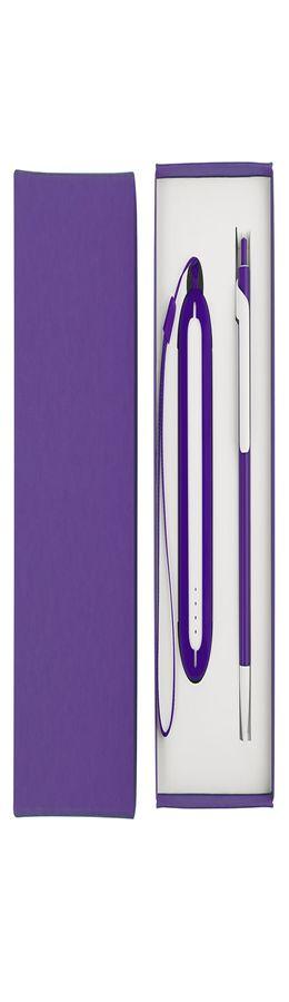Набор SEASHELL-1: универсальное зарядное устройство (2000 mAh) и ручка в подарочной коробке фото
