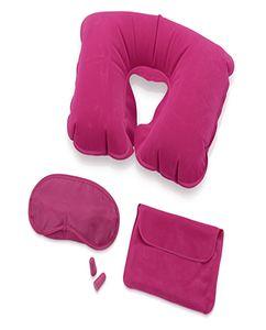 Набор для путешествий с комфортом, розовый фото