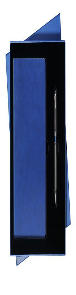 Подарочный набор Portobello Sky, синий/серый: ежедневник + ручка фото