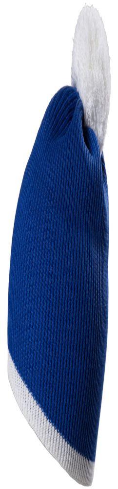 Шапка Amuse, синяя с белым фото