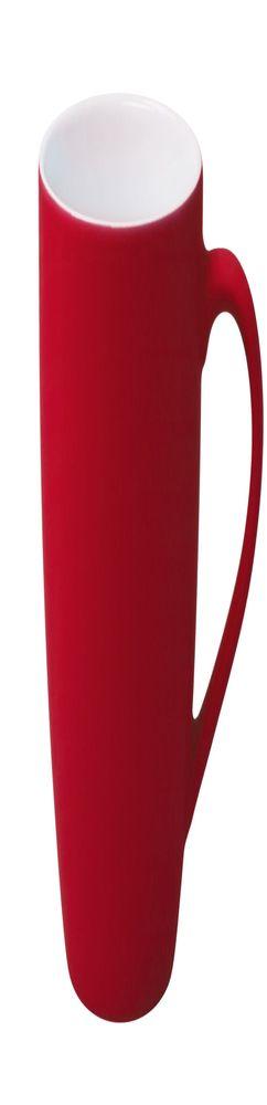 Кружка Good morning c прорезиненным покрытием, красная фото