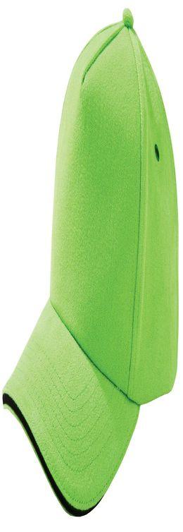 Бейсболка Unit Classic, зеленое яблоко с черным кантом фото