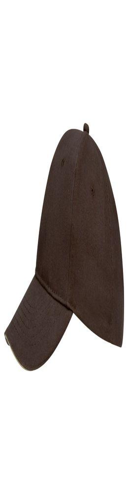 Бейсболка BUFFALO, коричневая с бежевым фото