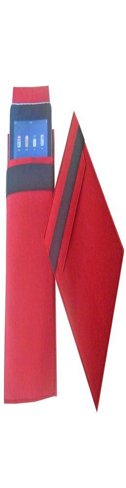 Чехол для iPad из войлока, красный с черным фото