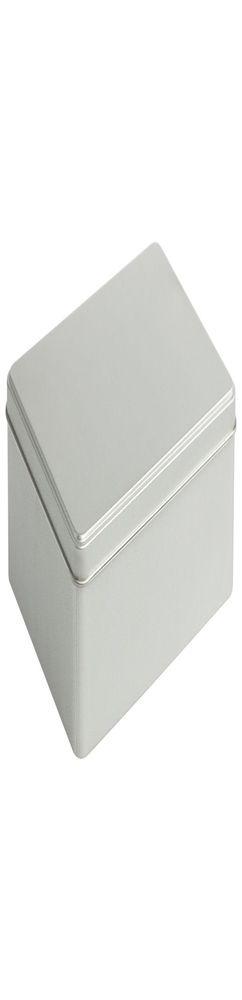 Коробка прямоугольная, большая, серебристая фото