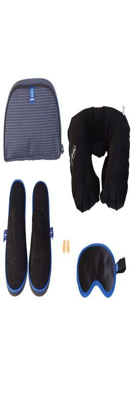 Дорожный набор Fly & Relax, синий фото