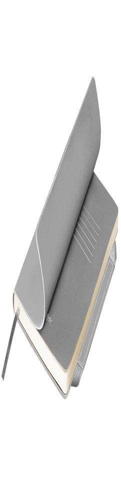 Ежедневник недатированный, Portobello Trend, Alpha, 145х210, 256 стр, серебро/серый, гибкая обложка фото