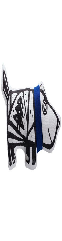 Игрушка «Собака в шарфе», большая, белая с синим фото