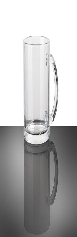 Кружка стеклянная бесцветная фото