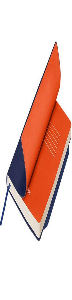 Ежедневник недатированный, Portobello Trend, Monte, 145х210, 256 стр, синий/оранжевый, гибкая обложка фото