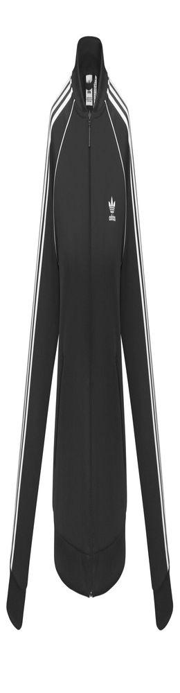 Куртка тренировочная женская на молнии SST TT, черная фото