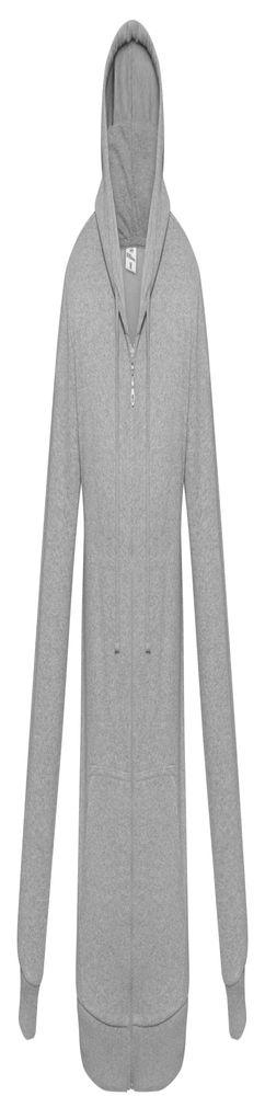 Толстовка на молнии с капюшоном Unit Siverga Heavy, серый меланж фото