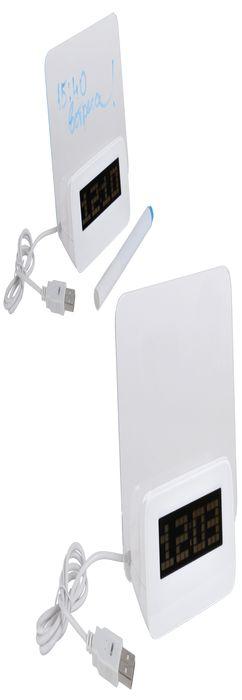 USB-разветвитель с часами и полем для заметок фото