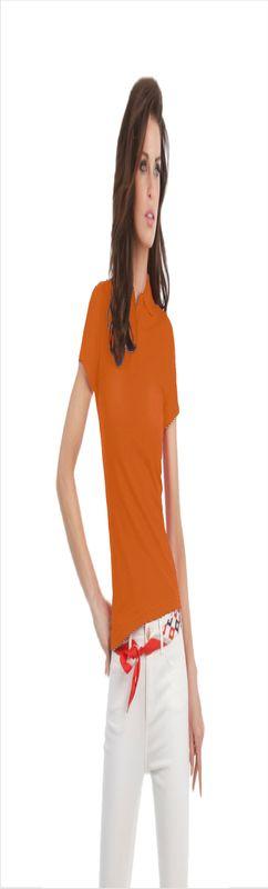 Поло женское ID.001/women, оранжевое/orange фото