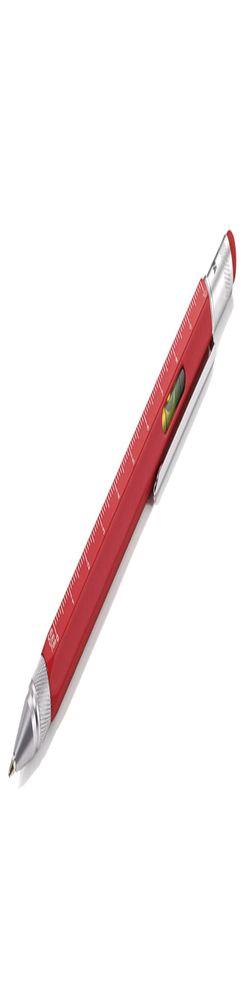 Ручка шариковая Construction, мультиинструмент, красная фото