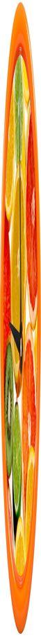 """Часы настенные """"PRINT"""" разборные ;  оранжевый, D24,5 см; пластик/стекло  фото"""