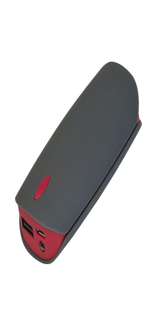 Внешний аккумулятор Cleo PB, 4 000 mAh, серый/красный фото