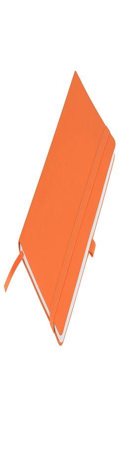 """Бизнес-блокнот """"Gracy"""", 130х210 мм, оранжев., кремовая бумага, гибкая обложка, в линейку, на резинке фото"""