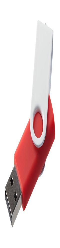 Флешка Twist Color, красная с белым, 16 Гб фото