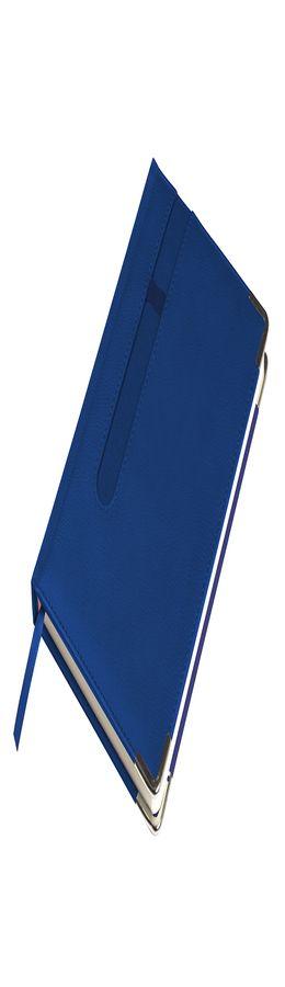 Ежедневник недатированный ASTON, А5,  синий, белый блок, без обреза фото